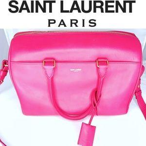 Saint Laurent Calfskin Leather Classic Duffle 12